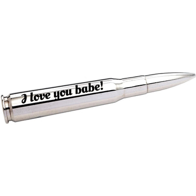 "Personalized Valentine's ""Silver Bullet"" Bottle Opener with Personalized Gift Box"