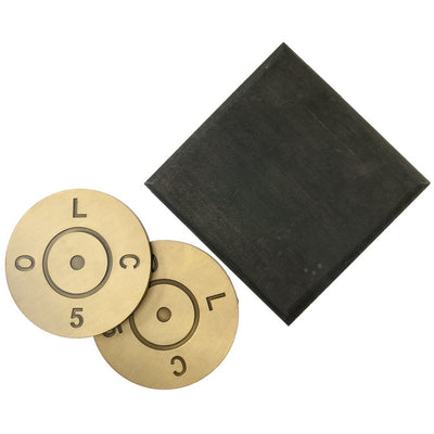 Set of Four .50 Caliber Coasters with Wood Gift Box