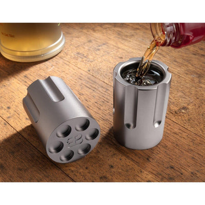 American Protection Alliance Six Shooter Shot Glass Pair