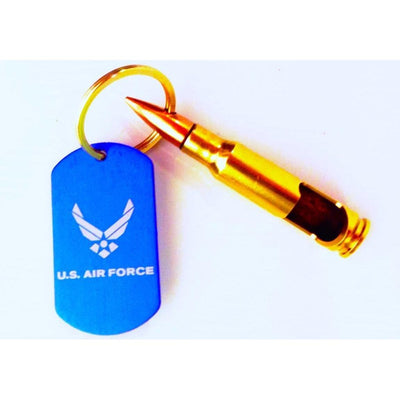 US Air Force 7.62mm Bottle Opener Keychain