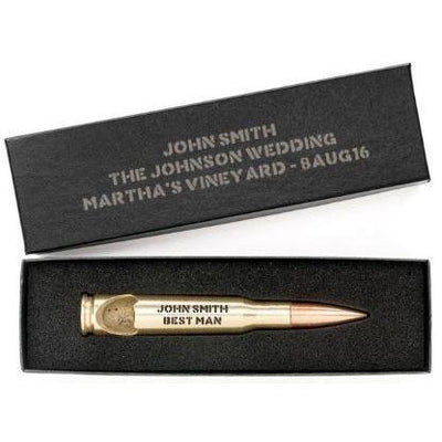 Brass .50 Caliber Bottle Openers with Personalized Gift Boxes