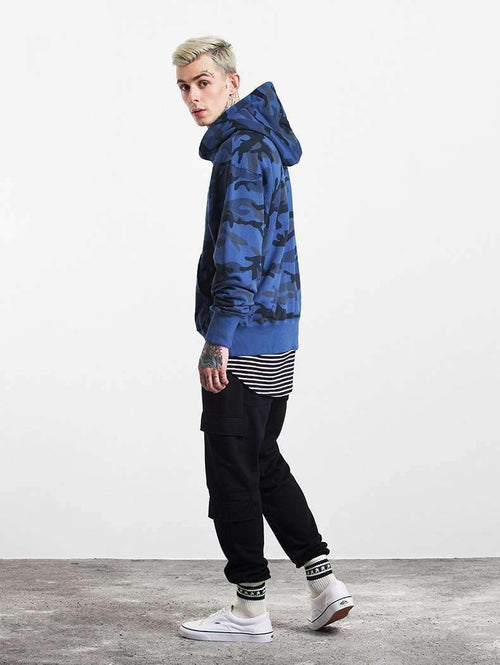Hoodie Overt [Blue] Dapper Warehouse