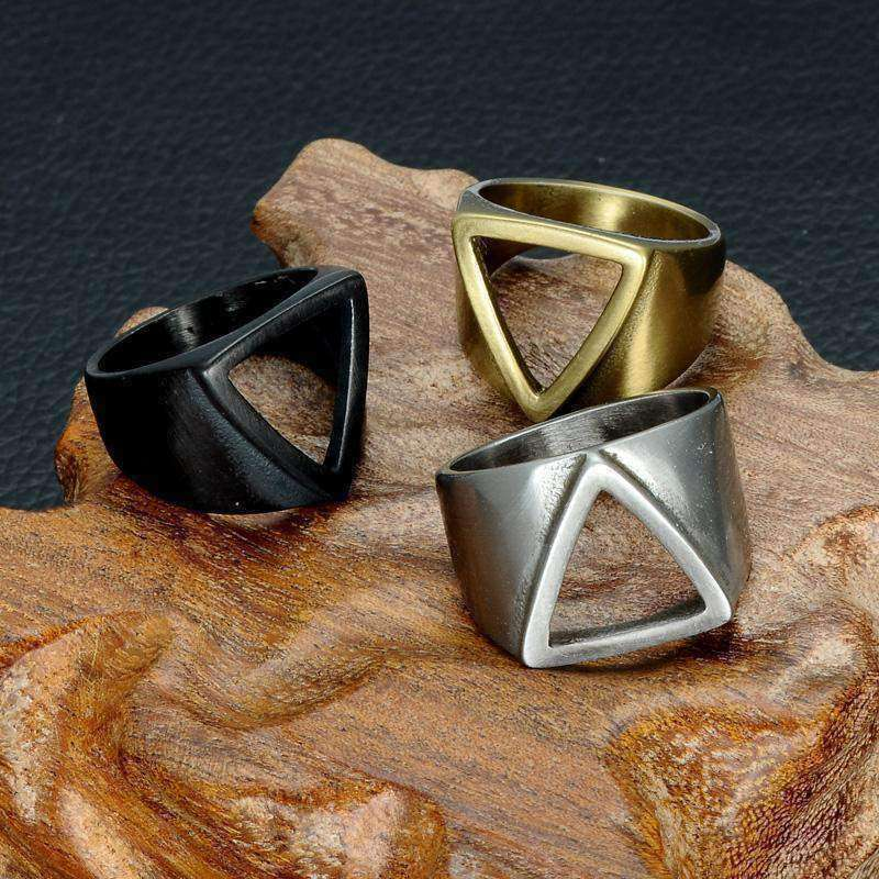 Pyramid [Hollow]-Men's Ring-Similar to but not affiliated with-Vitaly-Herschel