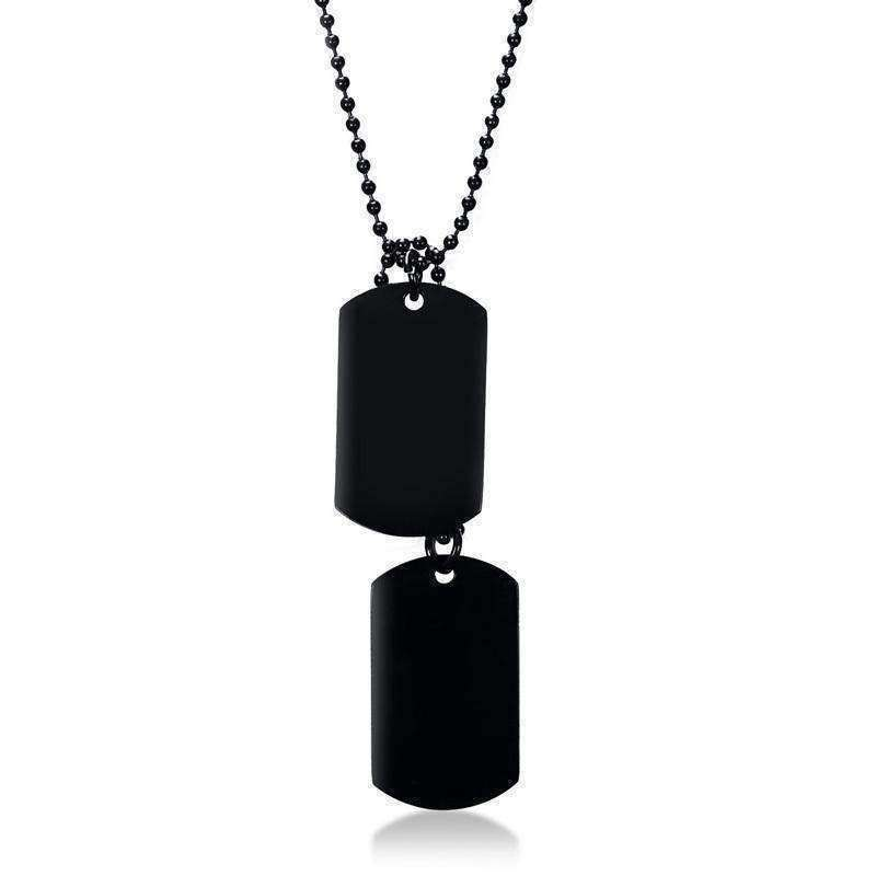 Wolf Tags-Men's Necklace-Similar to but not affiliated with-Vitaly-Herschel
