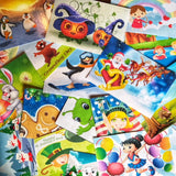 Collage of postcards for the Weekly Holiday Magic Postcard subscription - a preschool subscription box product from MyImaginationMail.com