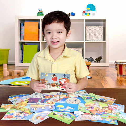 Weekly  Holiday Magic Postcards are part of the preschool subscription box lineup of products from MyImaginationMail.com