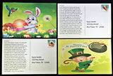 Sample postcards for the Weekly Holiday Magic Postcards subscription - a preschool subscription box product from MyImaginationMail.com