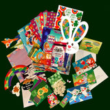 The Complete Holiday Magic Experience Box includes the Monthly Holiday Magic Box and the Weekly Holiday Postcards.  These products are part of the preschool subscription box lineup of products from My Imagination Mail.