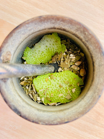 Yerba Mate with lemon peels