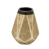 Ceramic Yerba Mate Tumbler Gourd of Diamond Facet Pattern (Brown)