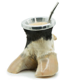 Natural Mate Gourd and Hoof Cup | Free bombilla included | Black-White, 100ml
