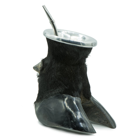 Natural Mate Gourd and Hoof Cup | Free bombilla included | Black, 100ml