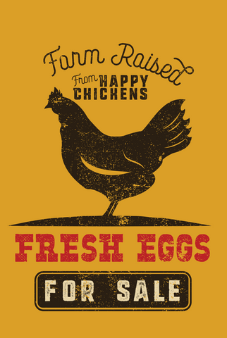 """Fresh Eggs For Sale"" Garden Flag"