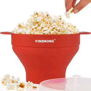 Collapsible Silicone Microwave Hot Air Popcorn Popping Bowl