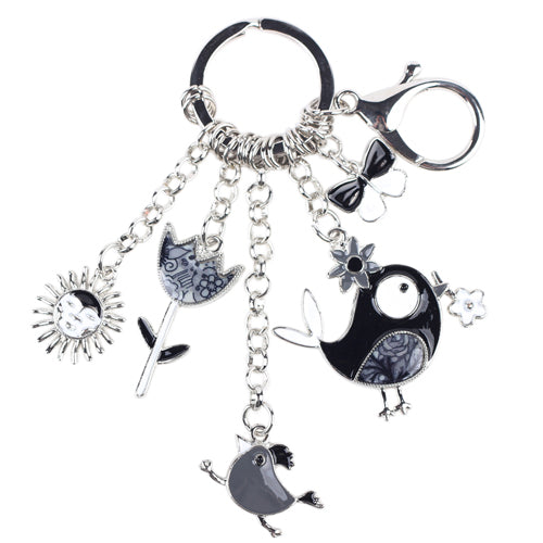 Crazy Chicken Key Chain and Charms