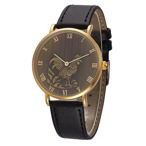 Chicken Pattern Men Quartz Wrist Watch