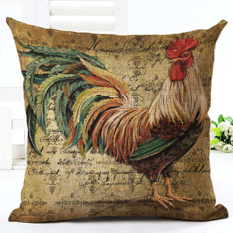 Gorgeous Rooster Pillow Cover