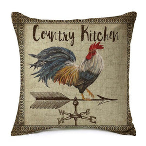Rooster on a Weather Vane Pillow Cover
