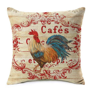 Brilliant Rooster Pillow Cover