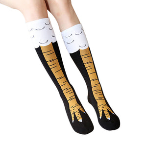 Chicken Leg Print Cartoon Socks