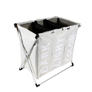 Triple Compartment Foldable Laundry Hamper/Basket