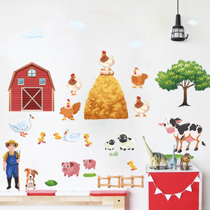 Vinyl Farm Scene Wall Stickers
