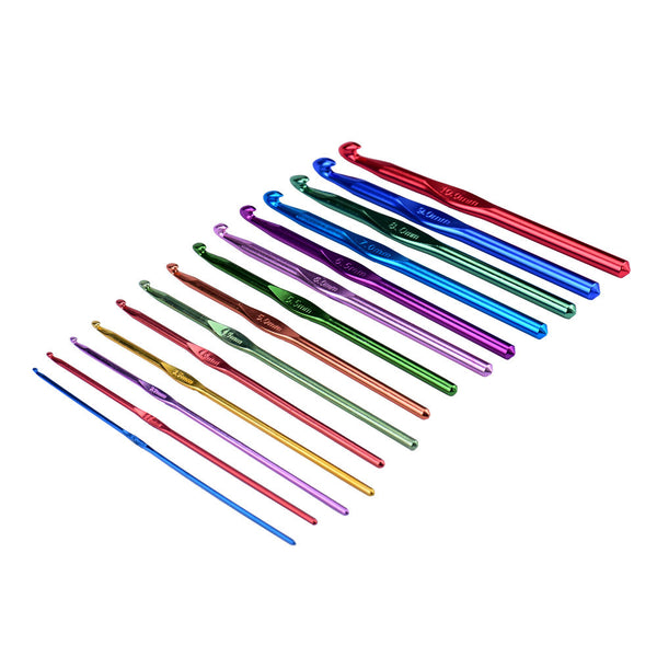 14 Piece Aluminum Handle Crochet Hook