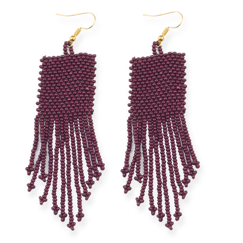PORT SEED BEAD SOLID EARRINGS 3.75""