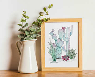Dallas Cactus Water Color Workshop (June 10th 6-8 pm)