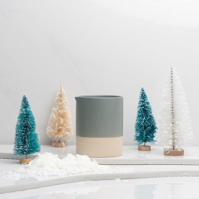 Build Your Own Candle | Holiday Green Mesa