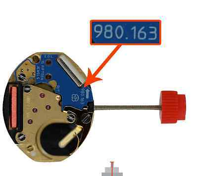ETA 980.163 WATCH MOVEMENT - 980.163 COMES TESTED WITH NEW BATTERY