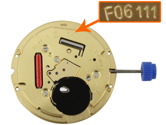 ETA F06.111 WATCH MOVEMENT - F06.111 COMES TESTED WITH NEW BATTERY 4.46H