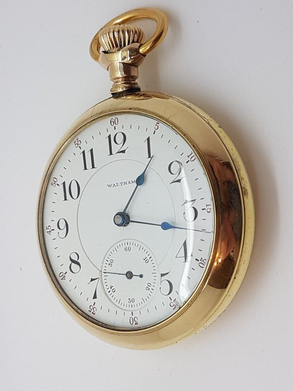 Waltham 18 Size Vanguard 21 Jewel Made in 1990 Beautiful Dial & Hands 10A