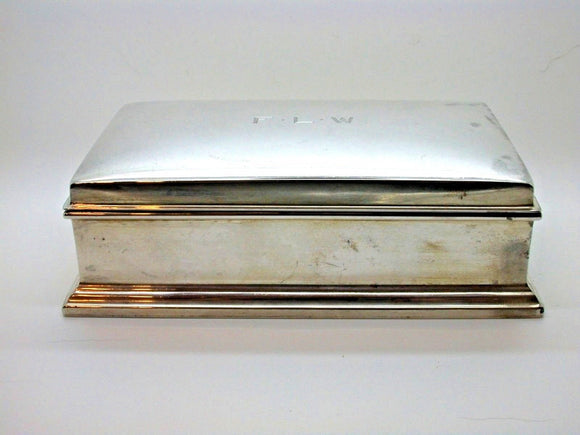 Vintage Large Silver Box Collectable Item with Wooden Insert 307.1g BEAUTIFUL