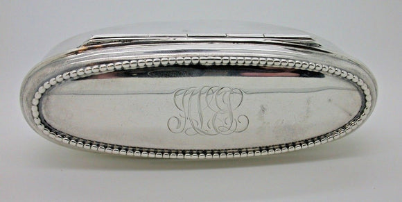 Beautiful Vintage Large Silver Oval Container Weighs 88.9g SILVER COLLECTABLE