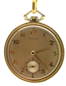 VINTAGE HAMILTON 10 SIZE MODEL 917 17 JEWEL POCKET WATCH IN SNAP CASE – 6C