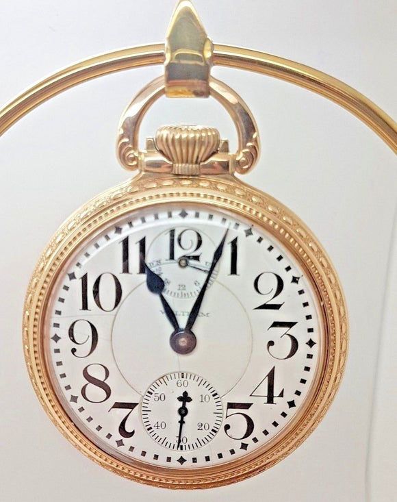 Vintage Waltham 16 Size Vanguard Pocket Watch Recently Serviced 23 Jewels - 7A