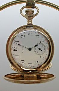 1910 Elgin Size 0 Hunting Philadelphia Gold Filled Case Grade 354 Pocket Watch