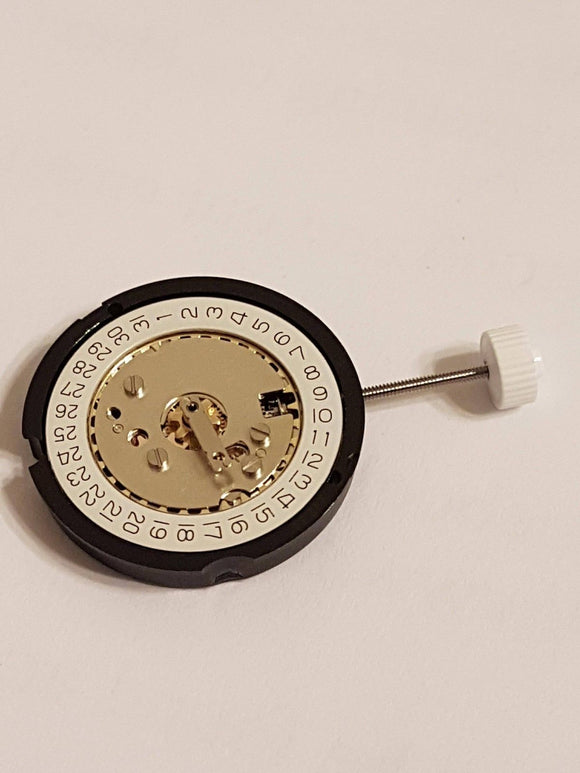 BRAND NEW WATCH MOVEMENT RONDA 585 (Date at 3) COMES TESTED WITH NEW BATTERY