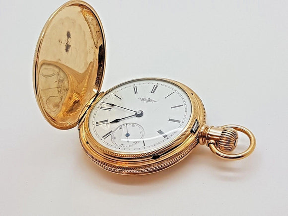Vintage Elgin Size 6 Pocket Watch Hunting Case 3rd Model 7 Jewels 1887 - 17A