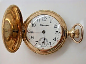 Hampden Hunting Pocket Watch Size 3/0 Made in 1906 Series 3, Lever Set - 1D