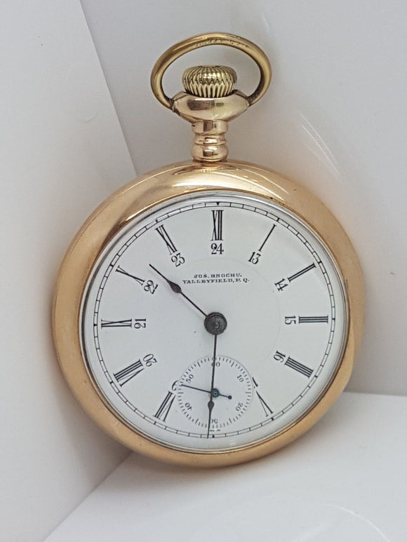 American Watham Watch Co.18 Size Private Label Pocket Watch Made in 1906 - 18E