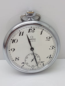 Omega 18 Ligne Pocket Watch Cal 960 Made in 1973 Snap Case 17 Jewels - 14E