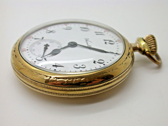 HAMILTON SIZE 16 POCKET WATCH 17 JEWELS MADE IN 1914 CANADIAN DERBY CASE 13B