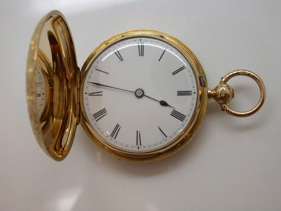 15.5 Ligne English Made 18KT Made in 1883 Vintage Pocket Watch David Keys - 13D