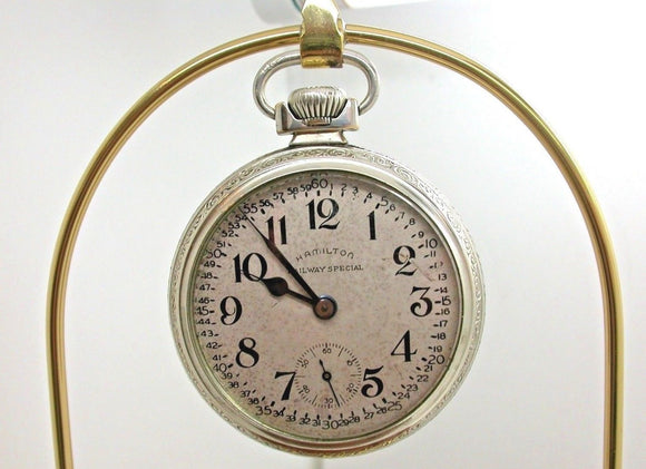 HAMILTON 16 SIZE RAILWAY SPECIAL POCKET WATCH MADE IN 1920 21 JEWEL 3B