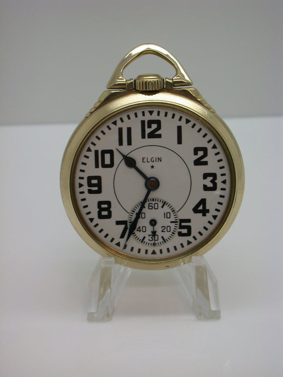 Elgin 16 Size 21 Jewel B.W. Raymond Pocket Watch Made in 1942 - F1