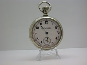 Elgin 18 Size 7 Jewel Pocket Watch Made 1888 Grade 73 Fahy's #1 Case - F2