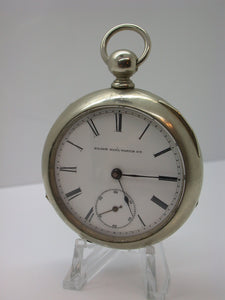 Elgin 18 Size Key Wind, Key Set Pocket Watch Grade 97 Mfg 1887 Class 6 Model 1 - F12