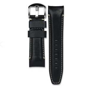 CURVED END LEATHER STRAP FOR PANERAI LUMINOR 44MM